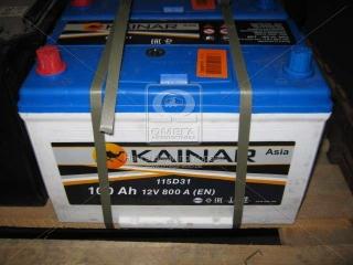 Аккумулятор 100Ah-12v KAINAR Asia (304x173x220),L,EN800 KAINAR