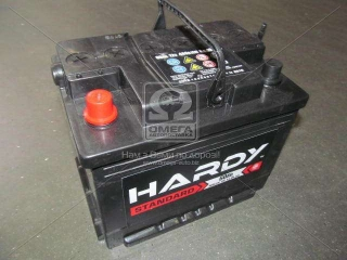 Аккумулятор 60Ah-12v HARDY STANDARD (242x175x190),L,EN480 HARDY
