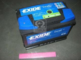 Аккумулятор 74Ah-12v Exide EXCELL(278х175х190),L,EN680 EXIDE