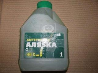 Антифриз Аляsка ANTIFREEZE-40 (зеленый) Канистра 1л/0,98кг АЛЯSКА
