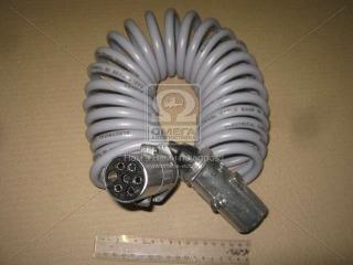 Кабель электрический спиральный полуприцепа КАМАЗ с вилками ПС-325 L=6,5 м. Сириус