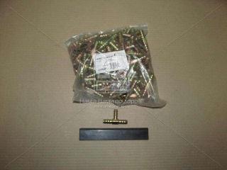 Соединитель тройник 12мм зубчатый для трубки (металл) (RIDER)